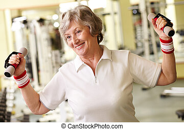 Strong grandma  - Positive senior woman living active life