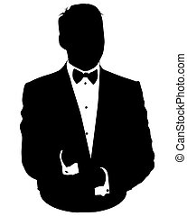 Business man avatar in suit - Graphic illustration of man in...