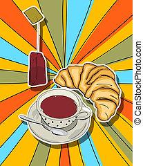 Pop art tea time
