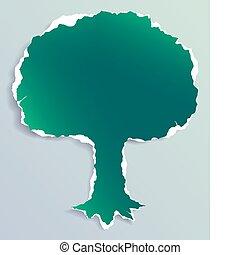 Torn Paper Tree