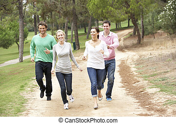 Group Of Friends having fun in park