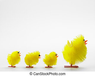Family Of Easter Chicks