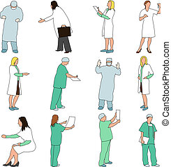 People - Professions - Medical - Set of illustrations of...