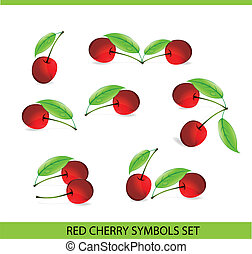 glass cherry symbols big set
