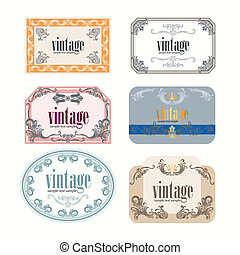 Vintage Wine Labels Design Template