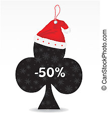 Special price tag with santa hat