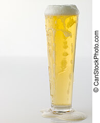 Glass Of Frothy Beer
