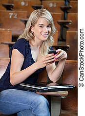 College Girl Texting