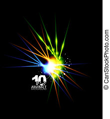 Abstract light shape on black - Vector illustration for your...