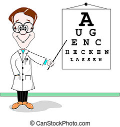 German optician cartoon - Optician cartoon. Get your eyes...