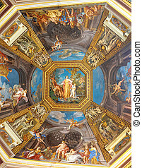 Renaissance ceiling - wall of the sistine chapel in the...