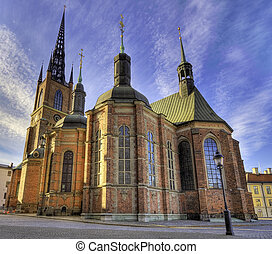 Riddarholmen church in Stockholm - Medieval church on the...