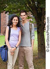 Portrait of a couple posing