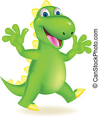 Happy dinosaur - Vector illustration of happy dinosaur