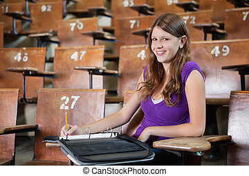 University Student in Lecture hall