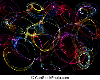 Abstract pattern on black background