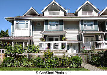 Residences in Richmond BC Canada.