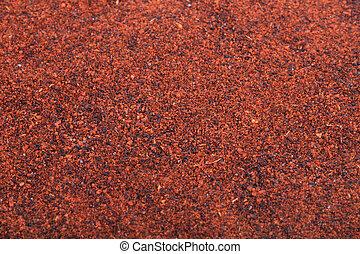 Vibrant chili powder - Close up of vibrant rusty color chili...