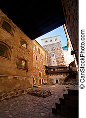 Turku castle - view of the inner court of Turku castle