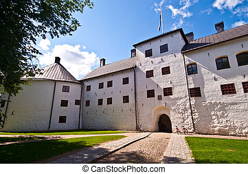 Turku castle - view of the entrance of Turku castle