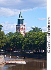 Cathedral of Turku - exterior of the medieval cathedral of...