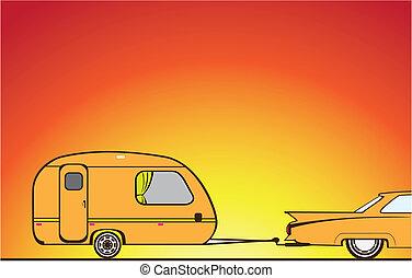 Camper Trailer - camper trailer vector