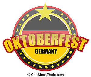 Oktoberfest detail seal - Oktoberfest detail illustration...