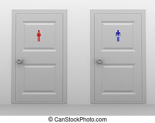 Toilets - Male and female toilets