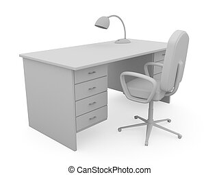 Table and chair - Workplace for the chief