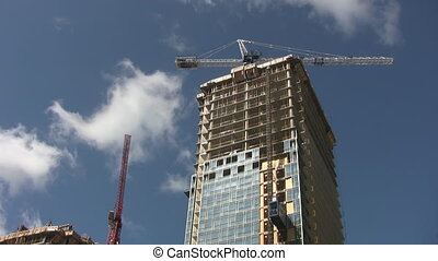 Condo construction. Timelapse. - Timelapse shot of...