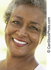 Senior Woman Smiling At The Camera