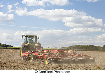Tractor Preparing Soil