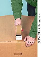 Packaging a box