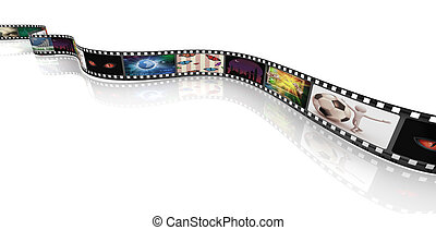Film strip with pictures