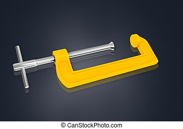 clamp - 3d multi use clamp in white background
