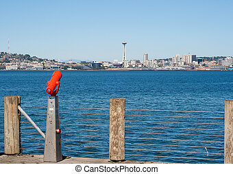 Seattle - Seatlle - view from Alki Beach Park