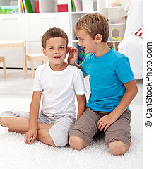 Two friends in the kids room