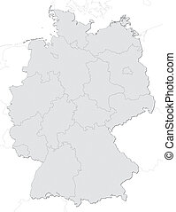 Germany map with states
