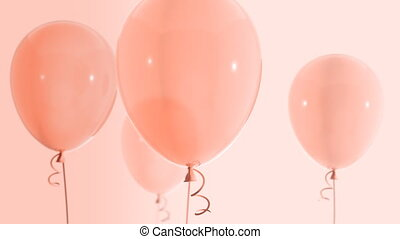 Balloons floating up Loop HD 034 - Balloons floating up Loop...