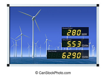 Wind power display - english