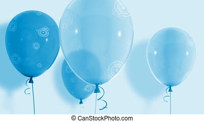 Balloons floating up Loop HD 035 - Balloons floating up Loop...