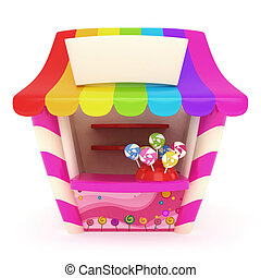 Candy Store - 3D Illustration of a Candy Store