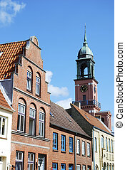Historic town - Histroic town of Friedrichstadt in Germany.