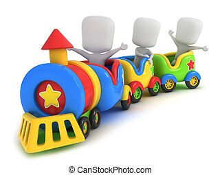 pociąg, dzieciaki