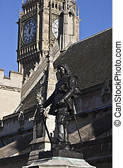 Cromwell monument. Taken in London from Parliament Square