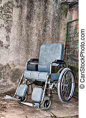 wheelchair over a grunge background