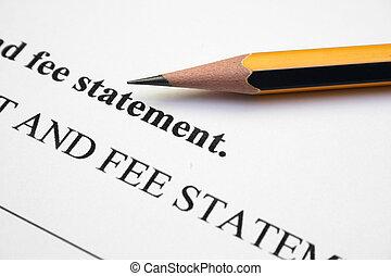 Fee statement