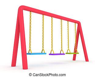 Swing - 3D Illustration of Swings