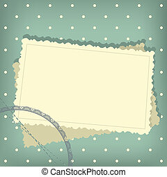 Scrap retro background with empty photo blank - Greeting...