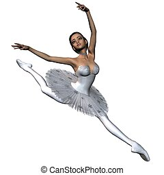 Snowflake Ballet Dancer - 1 - Ballerina in classical-style...
